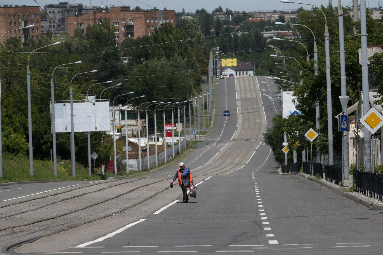 Пустые улицы шахтёрской столицы