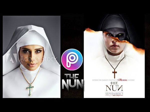 THE NUN PICSART KZ HOW TO EDIT MOVIE POSTER THE NUN MADE WITH PICSART