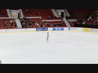 信じる!⛸️❄️ - Alinas run-through #alinazagitova #GPHelsinki