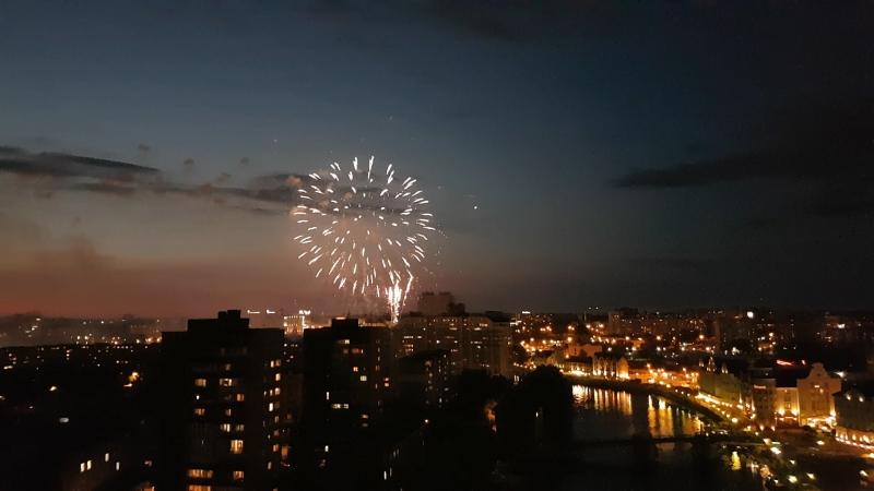 Фейерверк в Калининграде на острове Канта 16 августа