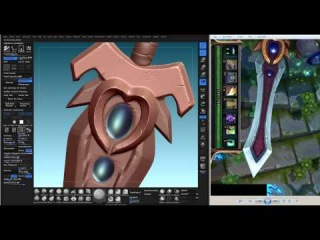 Modeling Sword Sculpting in Zbrush 05 (Garen from League of Legneds wip)