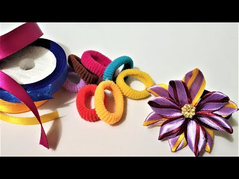 DIY New Look New Design Hair Rubber Band Using Stain Ribbon | Hand Made Crafts