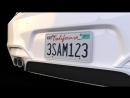 В Калифорнии ввели цифровые номерные знаки