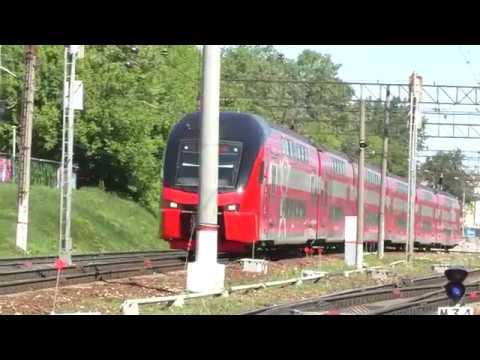 Электропоезд ЭШ2-004 Аэроэкспресс (ТЧ-50) скорый приг. поезд № 7223, Москва - а/п Домодедово.