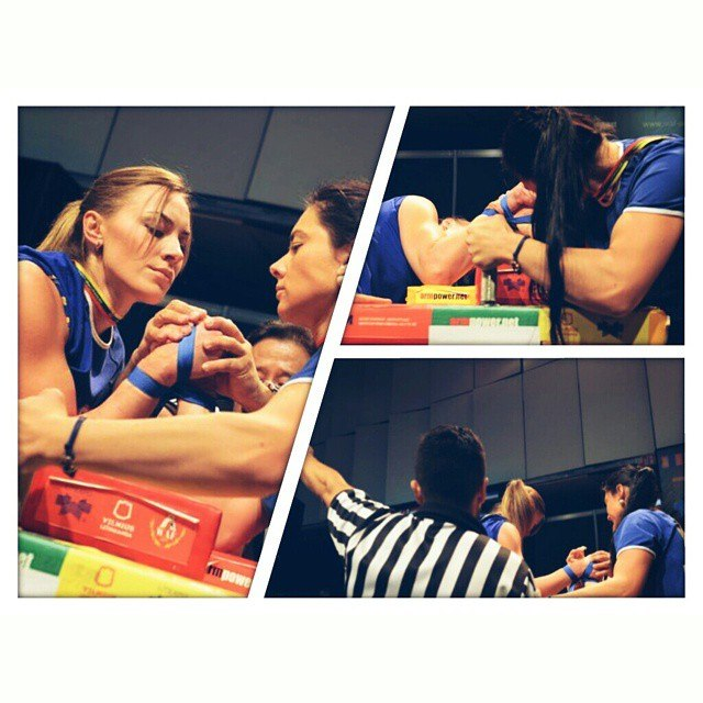 Ekaterina Nikisheva at the 36th World Armwrestling Championships 2014, Vilnius, Lithuania │ Image Source: Katerina Nikisheva