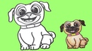 How to draw a cool pug dog? | ☺Best Kids Art☺