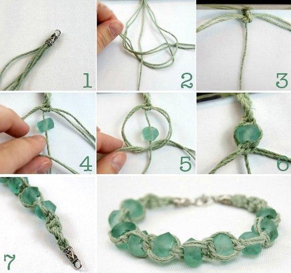 Плетённый браслет
