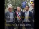 """24 heures après avoir inauguré lallée de la Nakba"""" en soutien aux Palestinien·ne·s le maire de Bezons a dû retirer la plaque"""