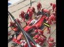 F1 2016 US GP - Slow motion of a Ferrari pit-stop for Sebastian Vettel