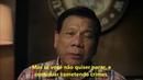 Presidente das Filipinas desejando um Feliz Natal