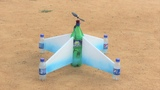 How to make a aeroplane - flying bottle star airplane