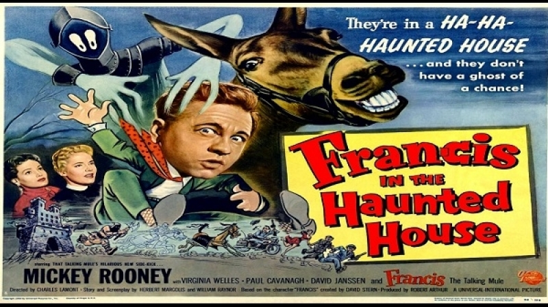 1956 -Francis in the Haunted House -Charles Lamont -Mickey Rooney, Virginia Welles, James Flavin