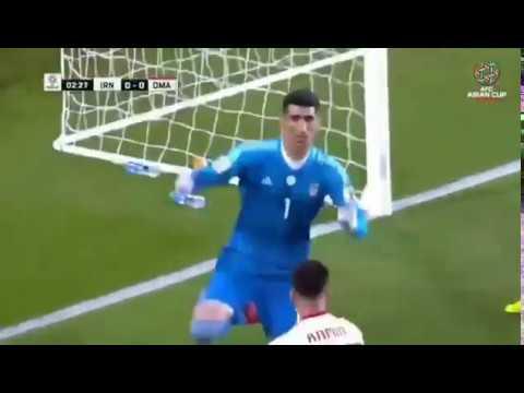 ALIREZA BEIRANVAND Saves Pentalty Vs Oman - SARDAR AZMOUN Guesses Penalty Direction