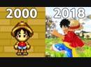 Эволюция игр Ван Пис One Piece Games Evolution 2000 2018