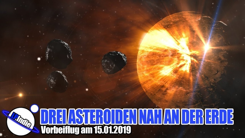 Einschlag unwahrscheinlich: DREI Asteroiden nah an Erde am 15.01.2019
