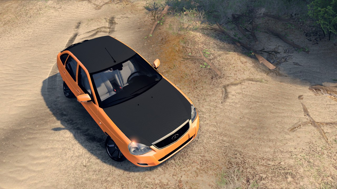 Lada Priora Hatchback Oni-kyan для Spintires - Скриншот 3