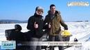 Гости из Франции на снегоходе