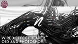 Tutorial Wired Effect Header C4D + Photoshop by Qehzy