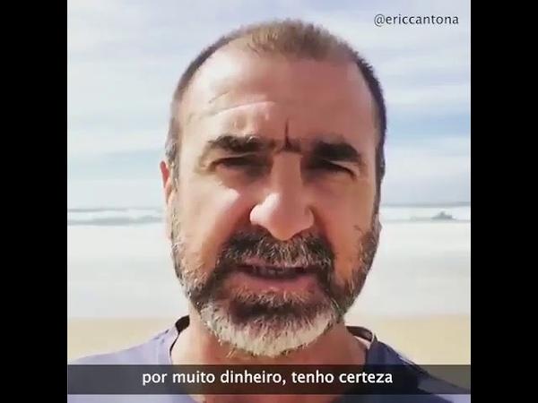 Eric Cantona, ex-craque francês, critica Bolsonaro e a Seleção Brasileira