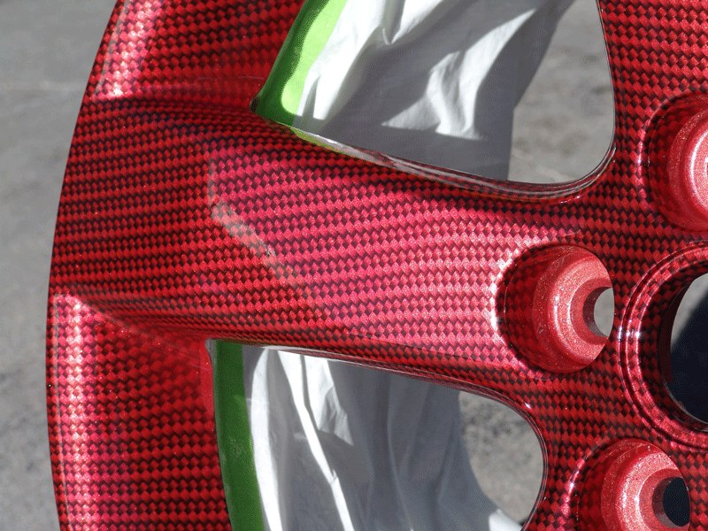 """Диски 18"""" - карбон F1 на красном металлике!"""