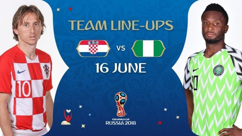 LINEUPS - CROATIA v NIGERIA - MATCH 8 @ 2018 FIFA World Cup™