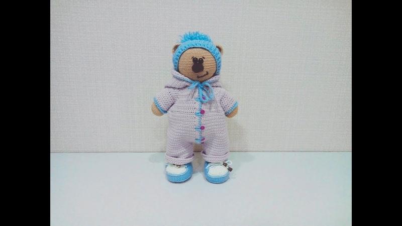 Игрушка амигуруми. Медвежонок крючком (Сrochet teddy bear ).Часть 1.
