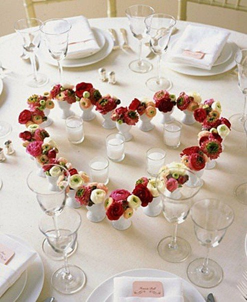 Идея для романтического ужина (1 фото) - картинка