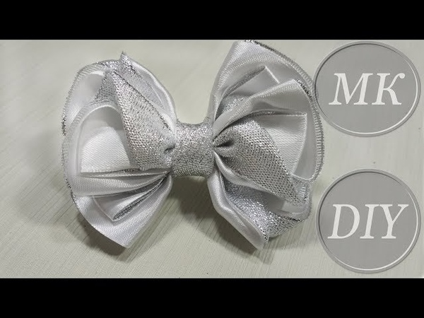 Банты для новогоднего утренника 🎀 Tutorial 🎀 Boutique Ribbon Bow For Christmas Eve 🎀 Lindo laço d
