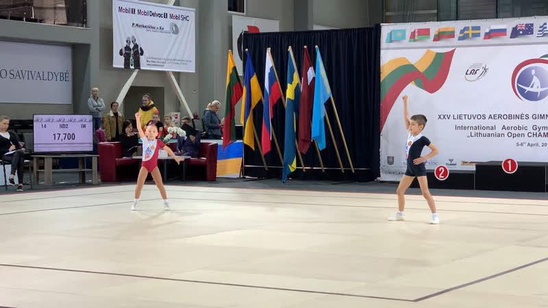 LTU OPEN 06.04.19 Prienai - 1 место - ПАРА Чернышёв-Звездина