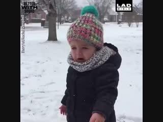 Моё отношение к снегу в одном видео