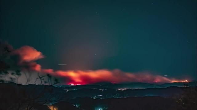 Malibu on fire