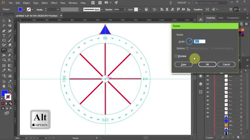 [3][157.50 F 078.74] how to use the rotate tool in adobe illustrator