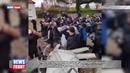 Протесты продолжаются во Франции спецназ оцепил школу и поставил детей на колени