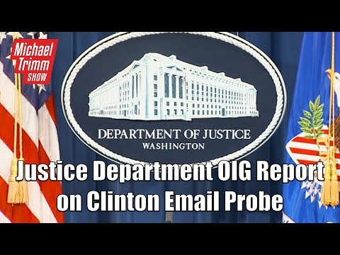 Senate Judiciary Committee Justice Department OIG Report on Clinton Email Probe