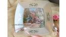 Обратный декупаж винтажной тарелочки с рисовой бумагой
