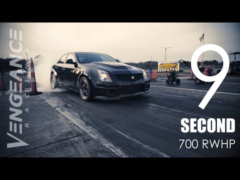 9 second 700rwhp BOOST ONLY CTS V in action Vengeance Racing