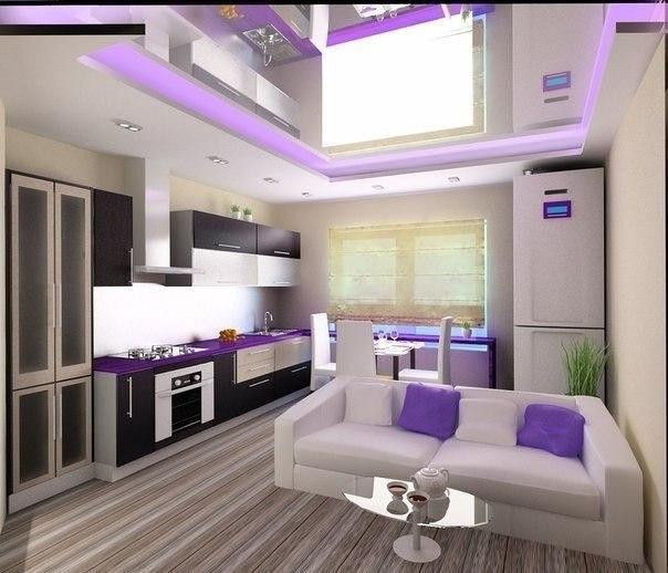 Гостиная и кухня (1 фото) - картинка