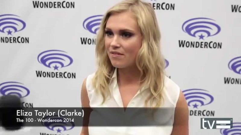 Eliza Taylor - talks 'The 100' at Wondercon pressline