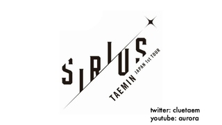 MP3 DL | TAEMIN'S NEW SONG FROM SIRIUS TOUR [holy water]