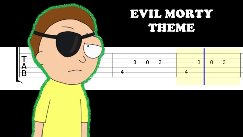 Evil Morty Theme- For The Damaged Coda (Easy Guitar Tabs Tutorial)