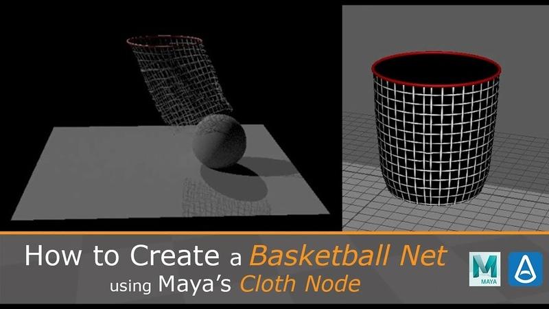 How to Create a Basketball Net using Mayas Cloth Node