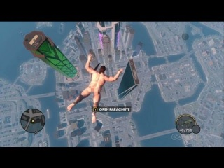 Saints Row: The Third - Naked Skydiving Gameplay Movie (Xbox 360)