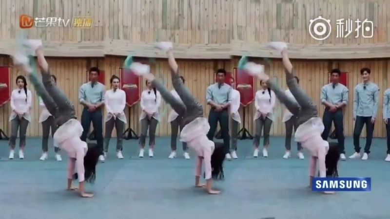 Cheng Xiao tumbling and gymnastics cuts 2018