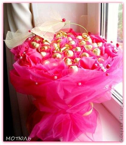 Мк букет из конфет  Автор: МОТЮЛЬ