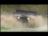 Hummer-Familie- Motorvision hat Hummer H1, H2 und H3 im harten Gelände getestet