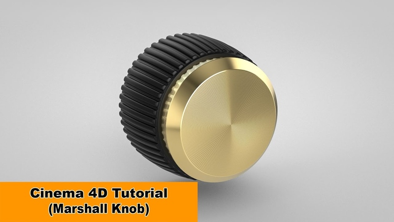 Model the Marshall Knob ;) (Cinema 4D Tutorial)