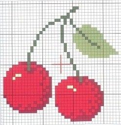 Вишни схема вышивки крестом 56