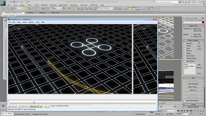 Creating Light Cycle Effects in 3ds Max - Part 9 - Batch Rendering