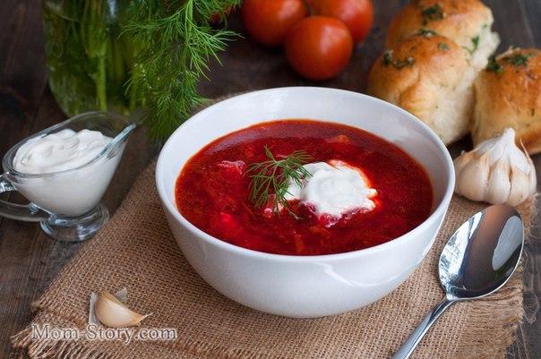 Фото рецепт борщ український