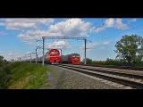 Встреча ЭД4м и ЭП2к от души с поездом №123